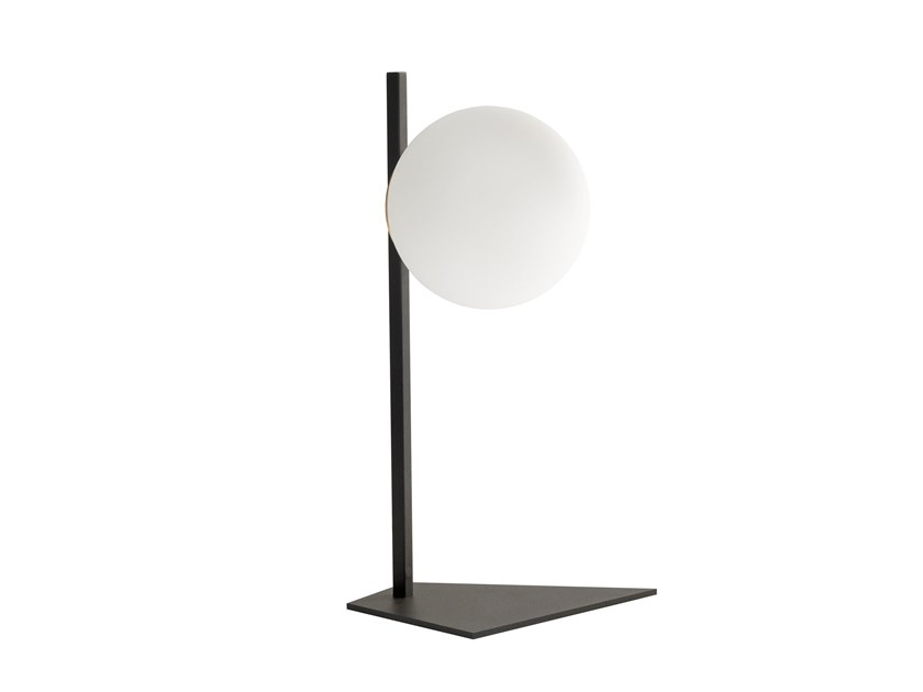 Direct light painted metal table lamp MERIDIAN T SMALL by RIFLESSI
