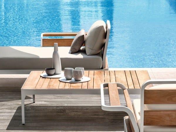 Rectangular teak garden side table MERIDIEN | Coffee table by Ethimo