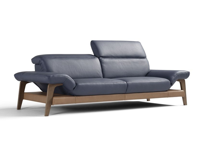 Leather sofa with electric motion MERIEM | Sofa with electric motion by Egoitaliano