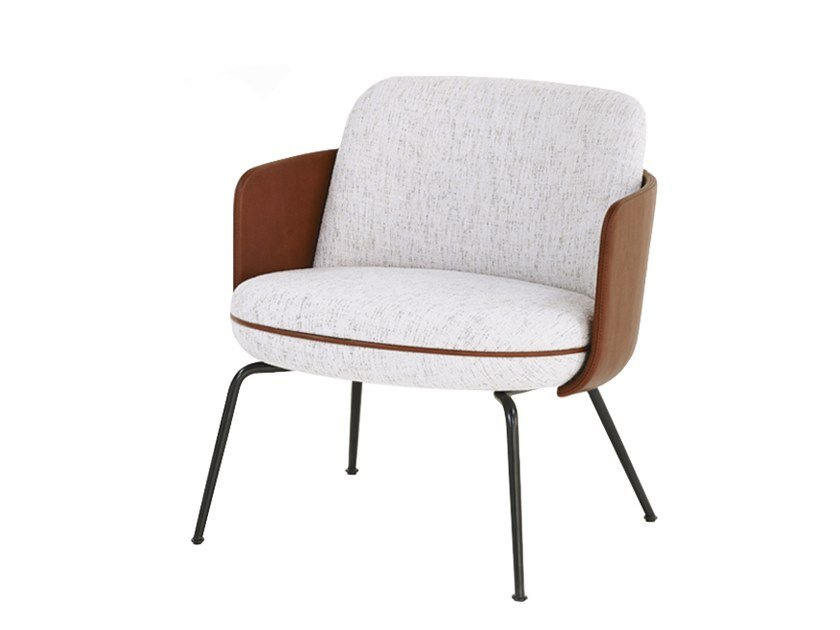Fabric easy chair with armrests MERWYN LOUNGE | Easy chair by Wittmann