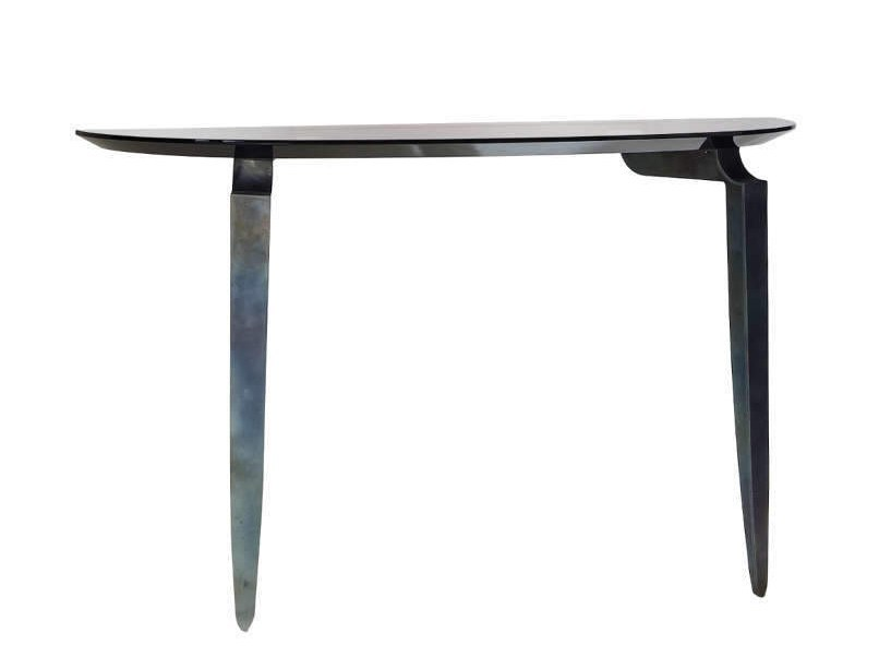 Demilune Lacquered Wooden Console Table MESA   Lacquered Console Table By  Garbarino