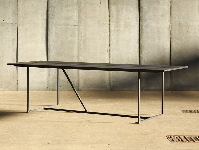 Oak table MESA NERO by Heerenhuis