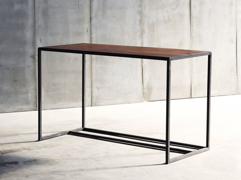 Teak writing desk MESA | Writing desk by Heerenhuis