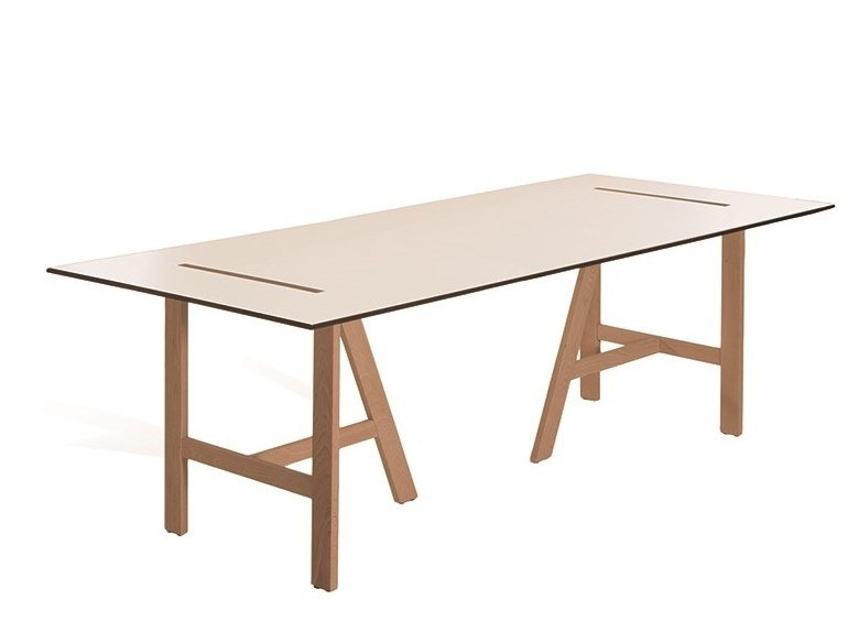 Rectangular wooden table MESANA 4F2110HDF by Capdell