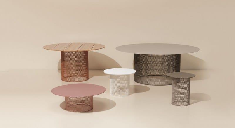 MESH   Table Basse En Aluminium Collection Mesh By KETTAL Design Patricia  Urquiola