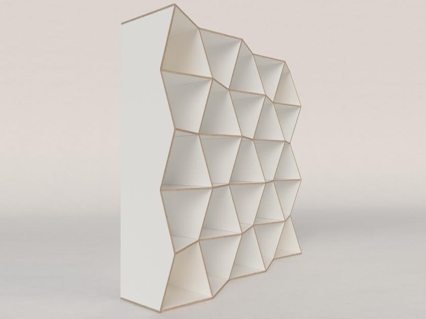 Plywood shelving unit MESH by Radis