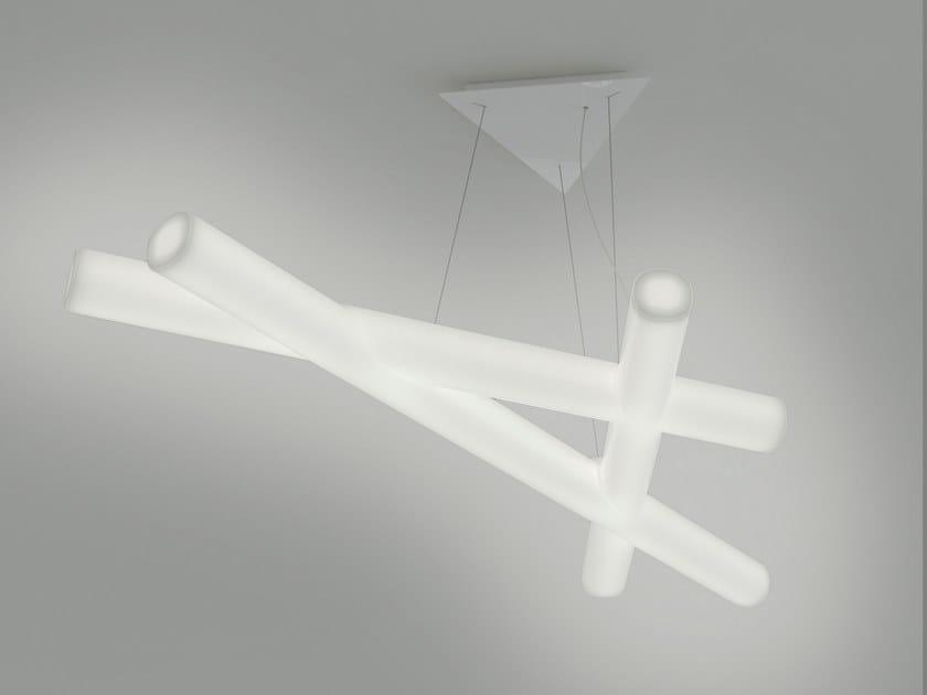 Polyethylene pendant lamp MESH by SLIDE