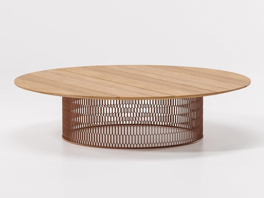 Teak garden side table MESH | Teak coffee table by Kettal
