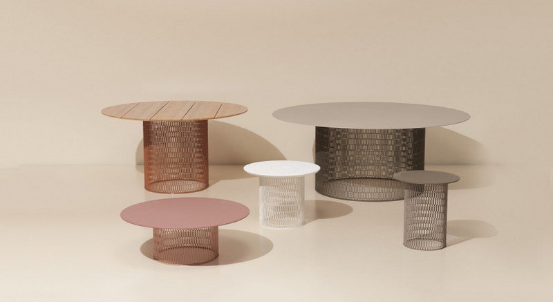 Kettal outdoor furniture Modern Design Archiproducts Mesh Teak Table Mesh Collection By Kettal Design Patricia Urquiola