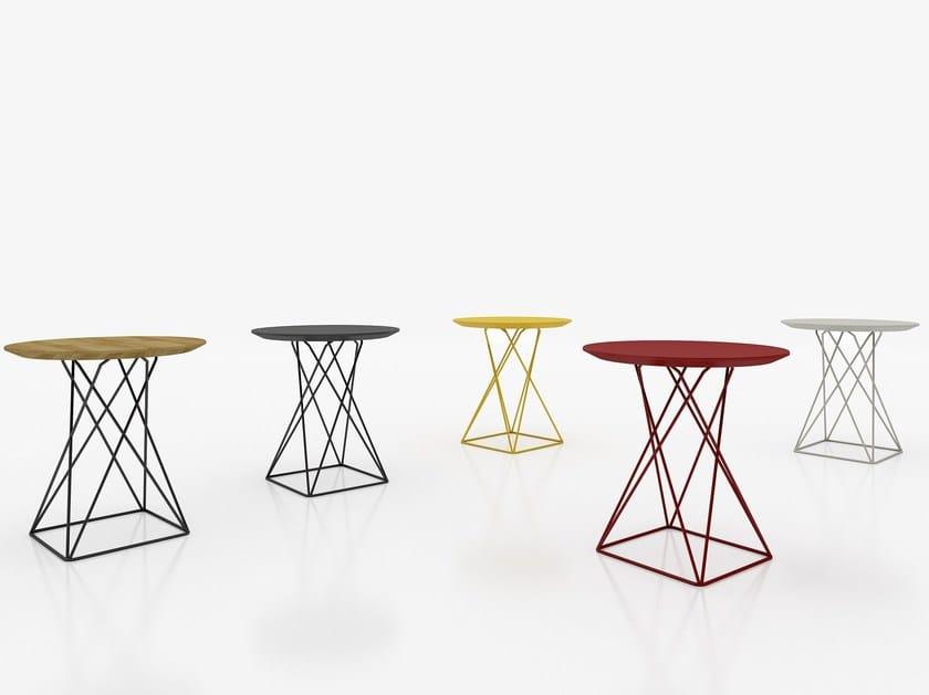 Round metal coffee table MESH by Tuna Ofis
