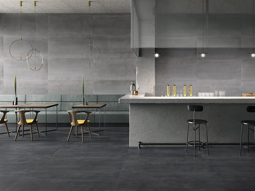 Porcelain stoneware wall/floor tiles with metal effect MET-ALL by Supergres
