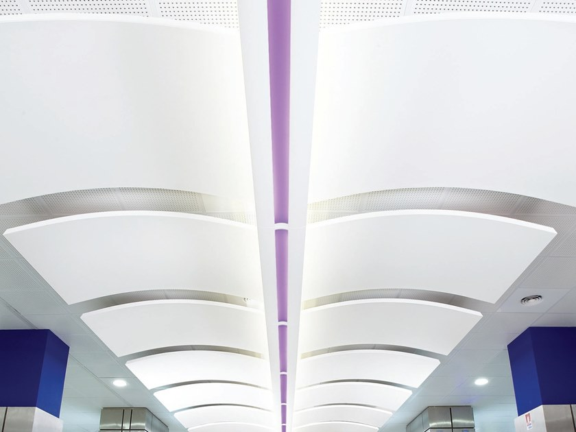 Metal hanging acoustic panel METAL CANOPY by Armstrong
