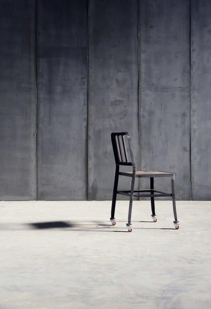 METAL CHAIR | Sedia con ruote