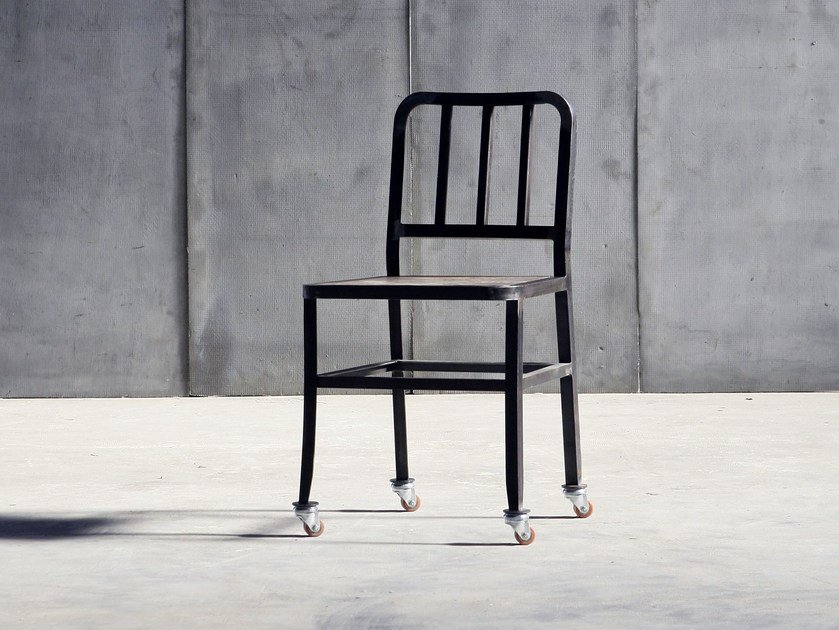 Metal chair with casters METAL CHAIR | Chair with casters by Heerenhuis