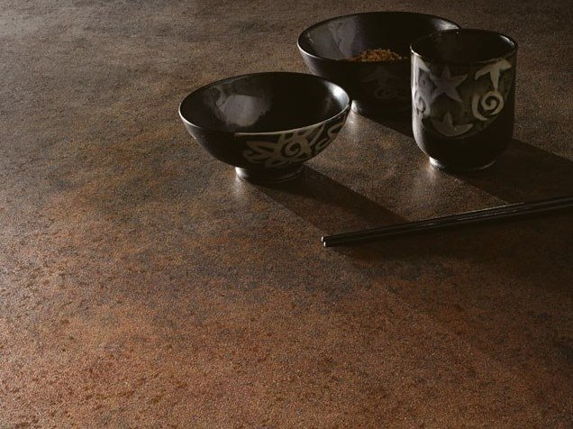 Laminated stoneware wall/floor tiles with metal effect METAL - CORTEN by COTTO D'ESTE