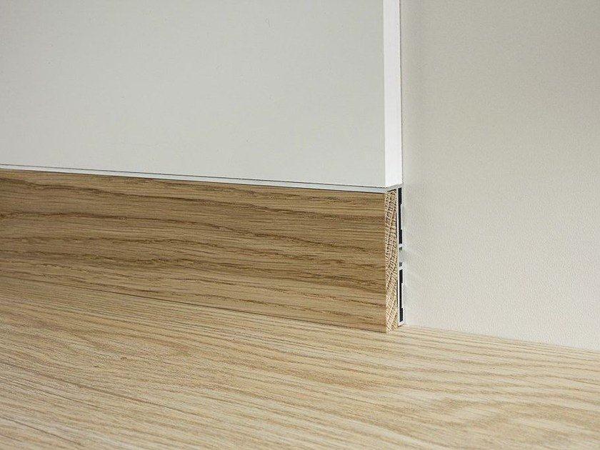 Aluminium and wood Skirting board METAL LINE 87/6 E 88/6 by PROFILPAS