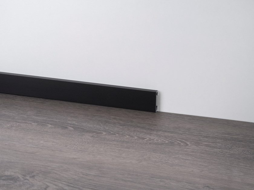 Aluminium Skirting board METAL LINE 89 TREND COLOR STONE by PROFILPAS