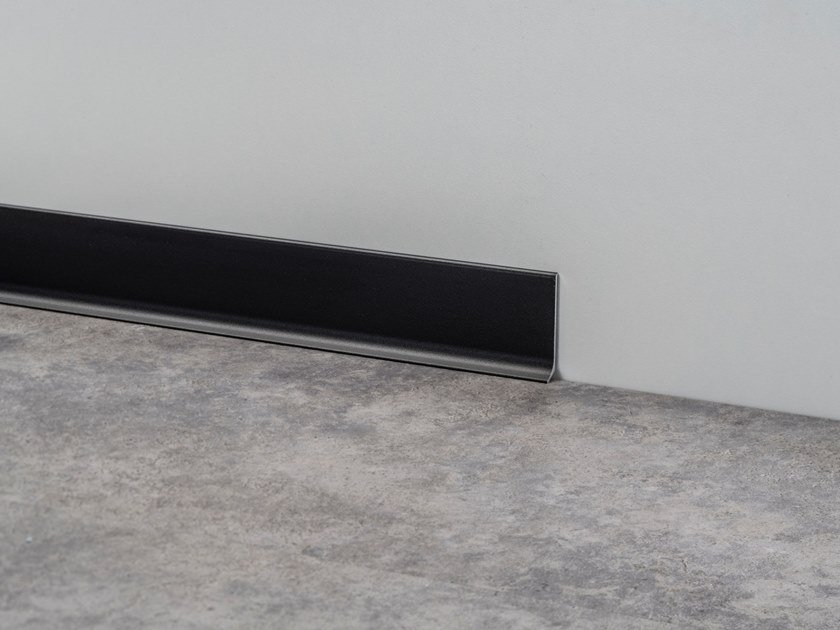 Aluminium Skirting board METAL LINE 90 TREND COLOR STONE by PROFILPAS