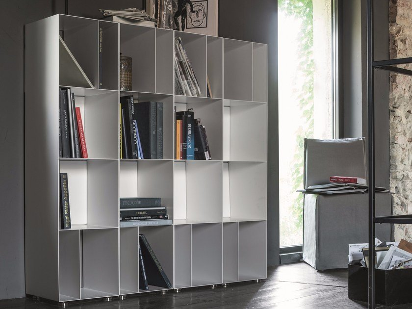Open modular plate bookcase METAL | Modular bookcase by Dall'Agnese