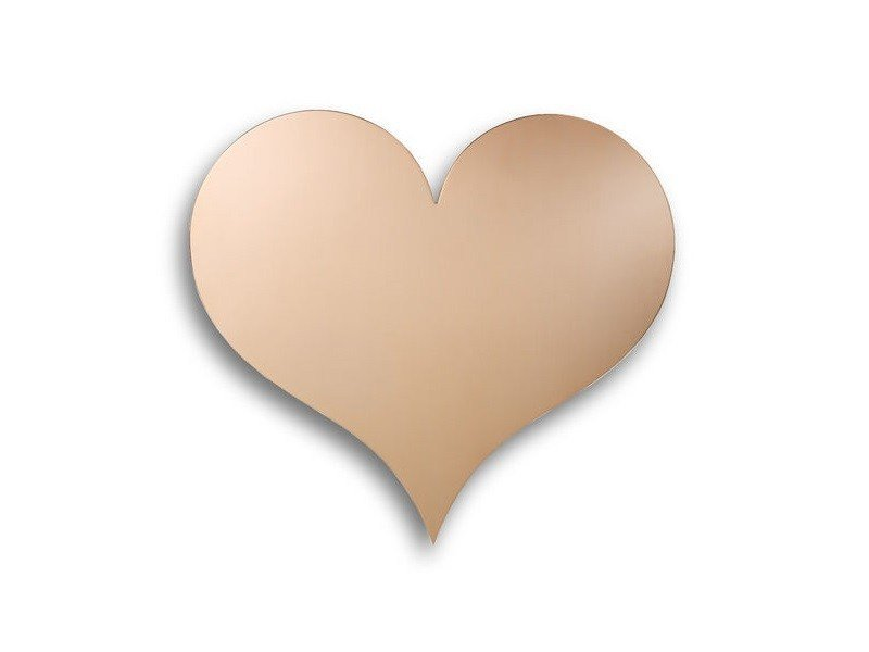 Copper wall decor item METAL WALL RELIEF HEART by Vitra