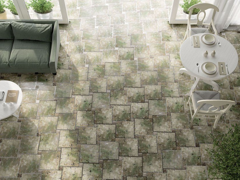 Indoor/outdoor ceramic wall/floor tiles METALIC by Absolut Keramika