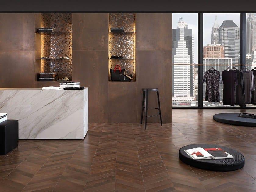 rev tement de sol mur en gr s c rame effet m tal metaline by italgraniti. Black Bedroom Furniture Sets. Home Design Ideas