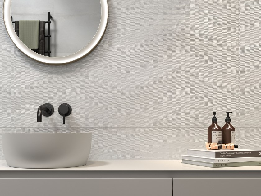 White-paste wall tiles with metal effect METALINE WALL STEEL by Impronta Ceramiche