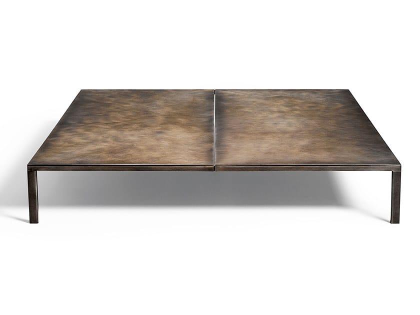 Square plate coffee table METALLARO by DE PADOVA