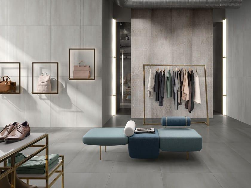 Porcelain stoneware wall/floor tiles with metal effect METALYN by Villeroy & Boch Fliesen