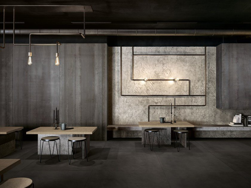 Wall/floor tiles with metal effect METAMORFOSI By CEDIT Ceramiche d ...