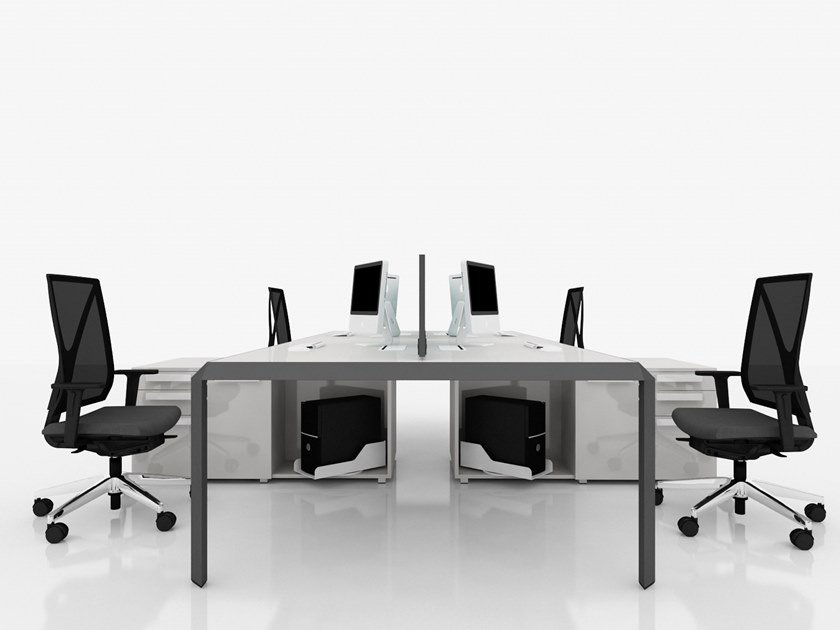 Multiple office workstation METIS | Office workstation by Tuna Ofis