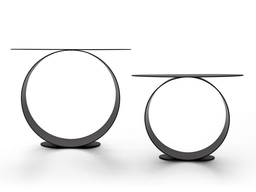 Table basse ronde en acier METODO by MDF Italia