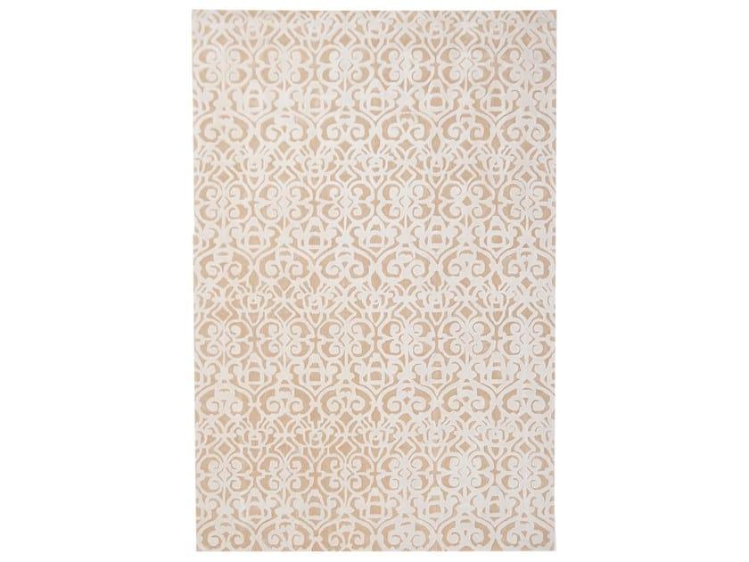 Handmade rectangular rug METROPOLE BAROQUE 2 by EBRU
