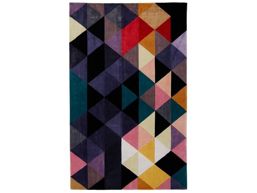 Handmade rectangular rug METROPOLE GEO E3 by EBRU