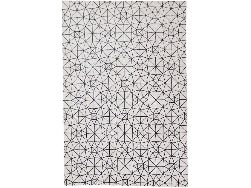 Handmade rectangular rug METROPOLE SPHERE by EBRU