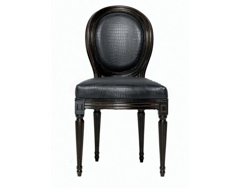 Medallion upholstered chair METROPOLIS LOUIS BLACK by KARE-DESIGN