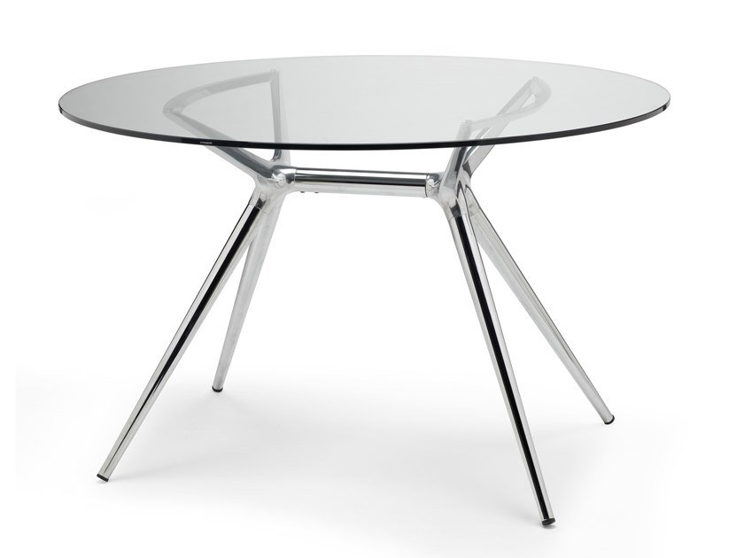 Lacquered round dining table METROPOLIS | Round table by SCAB DESIGN