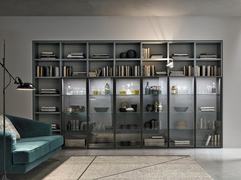 Sectional glass bookcase METROPOLIS | Bookcase by Gruppo Tomasella