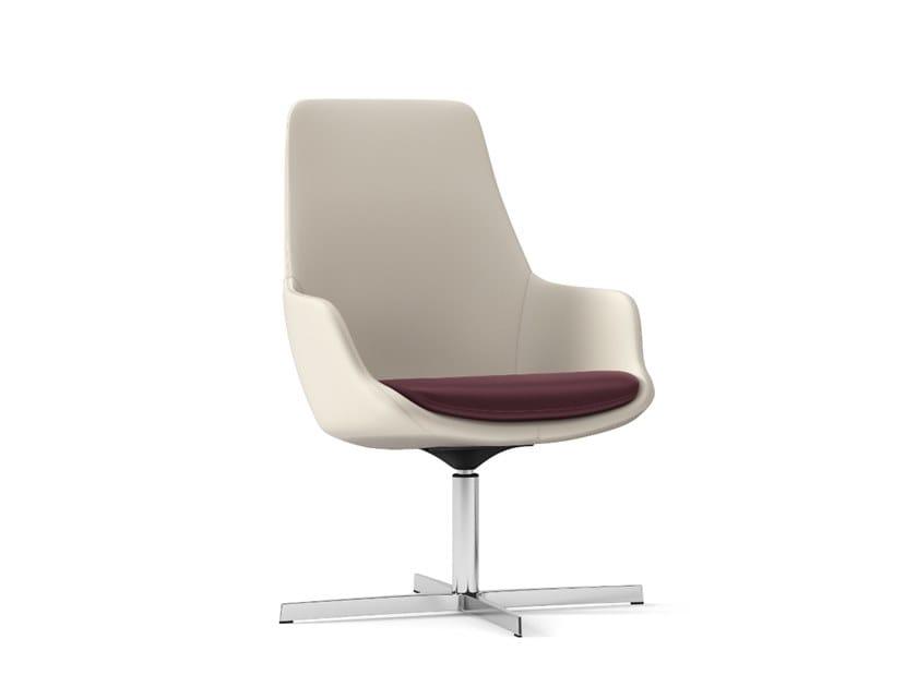 Swivel easy chair with 4-spoke base METROPOLITAN | Easy chair with 4-spoke base by Arte & D