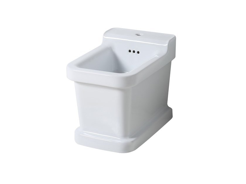 Floor mounted ceramic bidet with overflow METROPOLITAN | Floor mounted bidet by BLEU PROVENCE