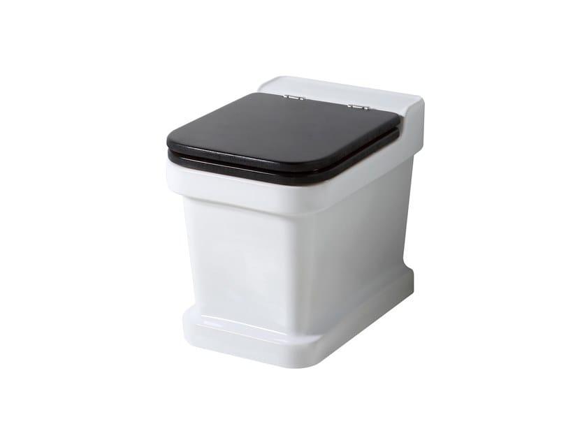 Floor mounted ceramic toilet METROPOLITAN | Floor mounted toilet by BLEU PROVENCE