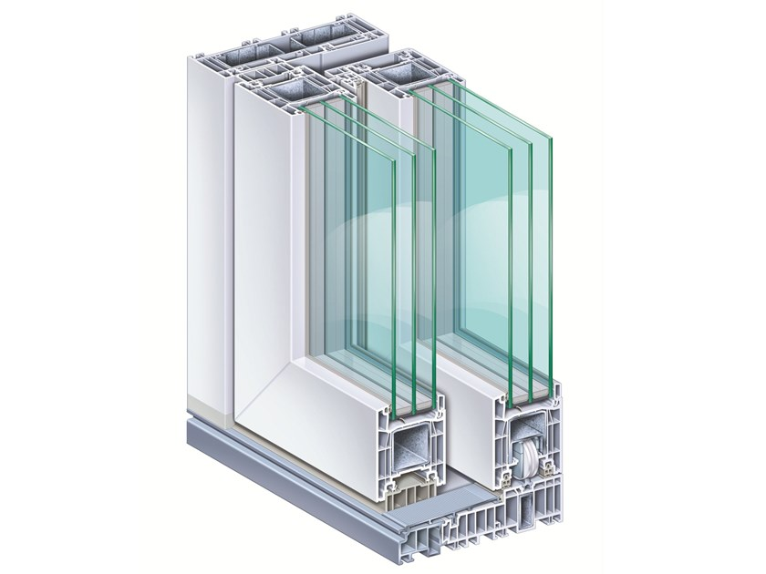Lift and slide window METROPOLITAN76   Lift and slide window by PIVA GROUP