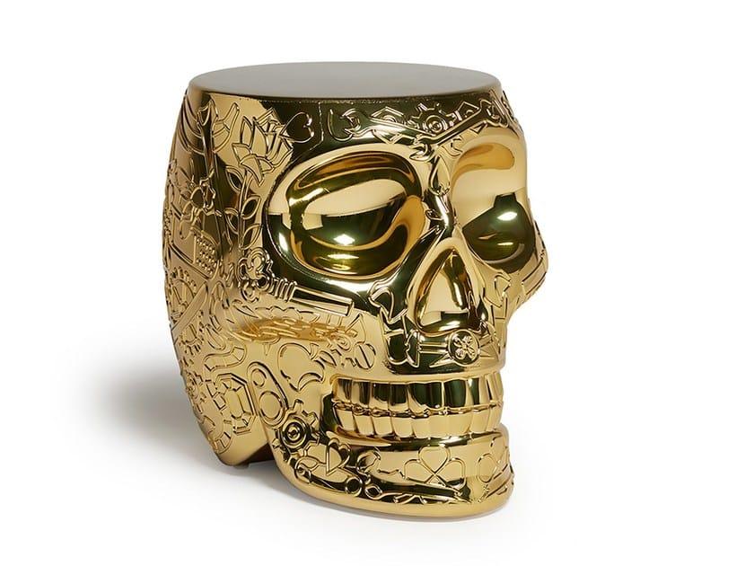 Polyethylene stool / coffee table MEXICO METAL | Stool by Qeeboo