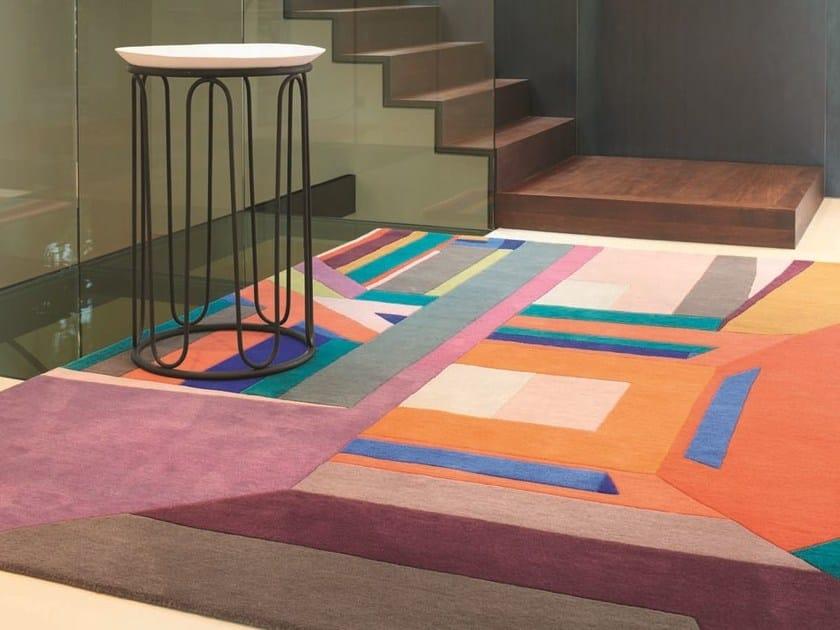 Patterned rectangular wool rug MEXICO by Toulemonde Bochart