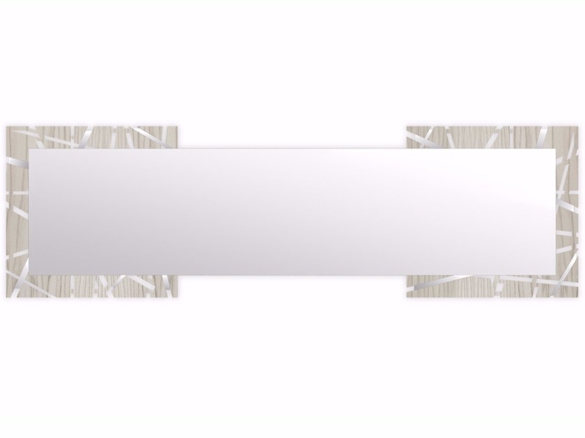Rectangular wall-mounted framed mirror MG-095Q-SPXL | Mirror by LAS