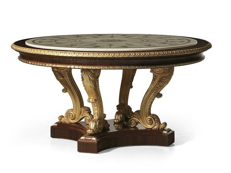 Classic style round rosewood table MG 1024 by OAK