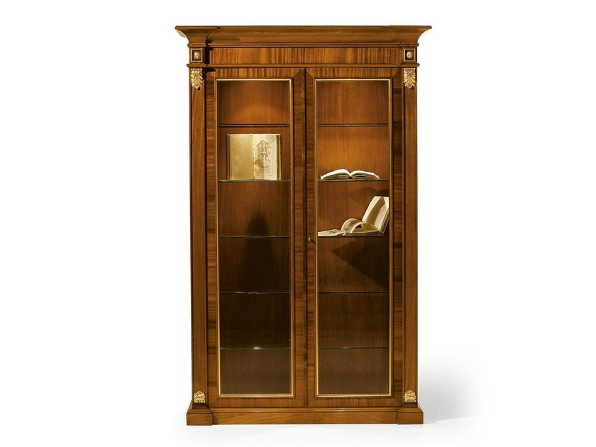 Wood and glass display cabinet MG 1031 by OAK