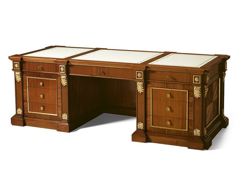 Mahogany writing desk with drawers MG 1036 by OAK
