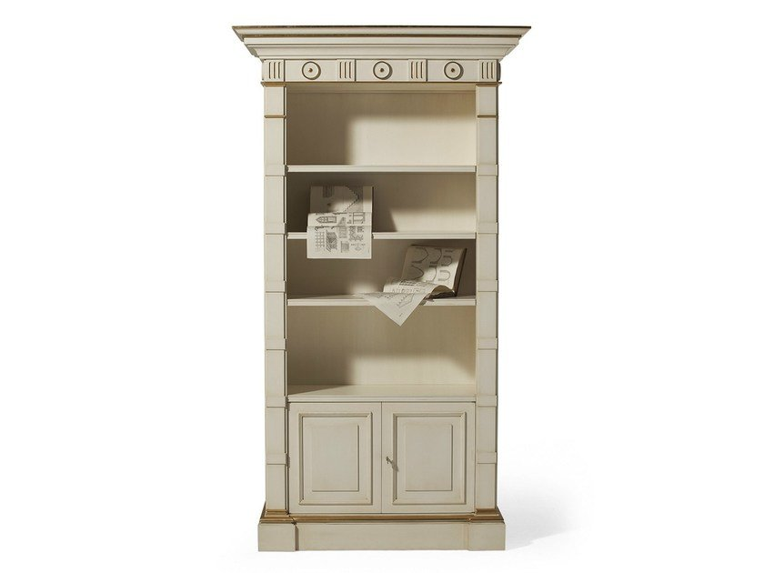 Open lacquered wooden bookcase MG 1040 by OAK