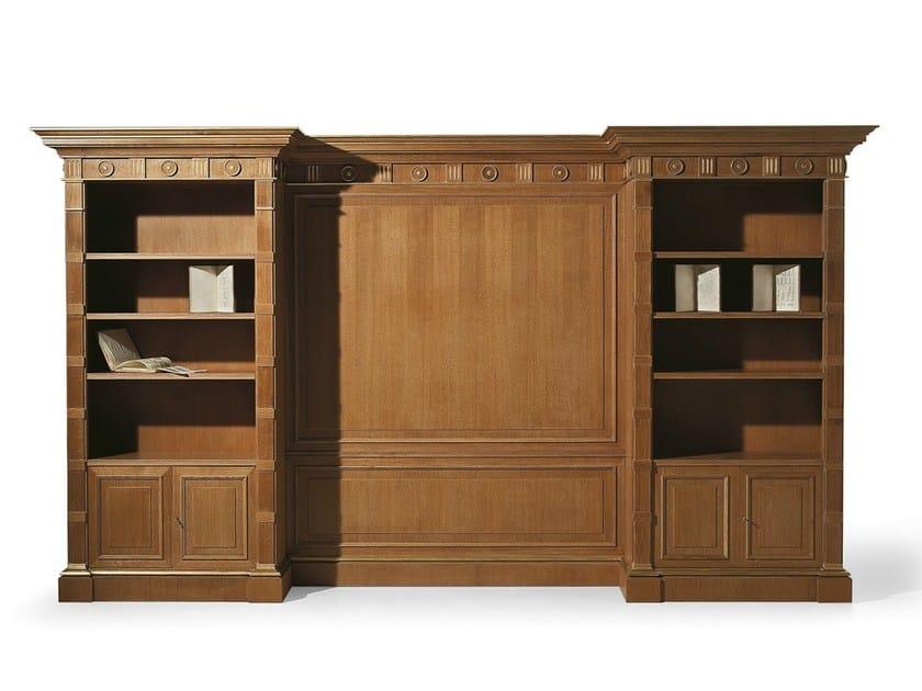 Open oak bookcase MG 1090/ROV by OAK